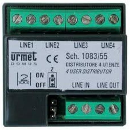Urmet 1083/55 Distributore 4 Utenze