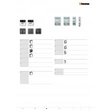 Fogli A5 per personalizzazione simboli del comando scenari art. LN4650 e H4651 BTICINO 3543