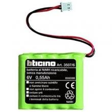 Batteria 6V 0.5Ah per sirena interna art. 4070, N/NT4070, HC/HS/HD4070 e centrali antifurto BTICINO 3507/6