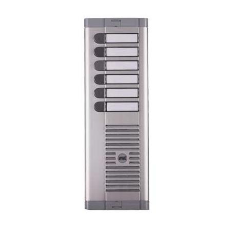 Urmet 925/106 | Pulsantiera a sei pulsanti con frontale in alluminio