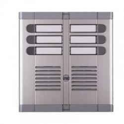 Urmet 925/206 | Pulsantiera a sei pulsanti con frontale in alluminio