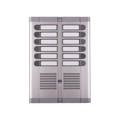 Urmet 925/212 | Pulsantiera a dodici pulsanti con frontale in alluminio