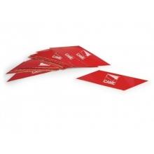 Came 001G0461 Strisce rosse rifrangenti adesive per aste 24 pezzi