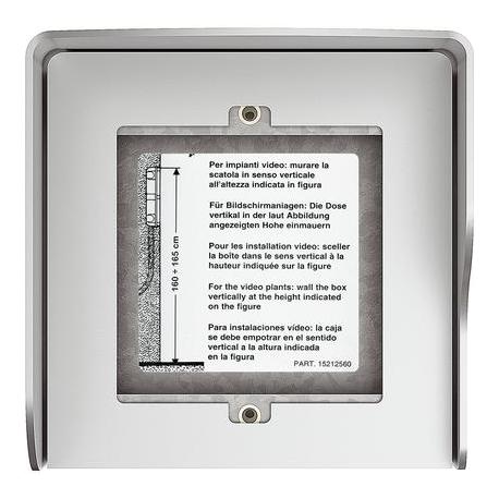 Bticino 350611 | scatola superficiale 1 modulo allmetal