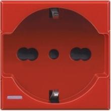 Bticino H4140/16R | axolute - presa std tedesco/italiano red