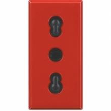 Bticino H4180R | axolute - presa bipasso 2P+T 10/16A rossa